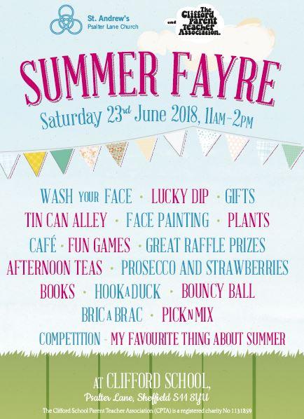 Summer Fayre, at Clifford School, Psalter Lane